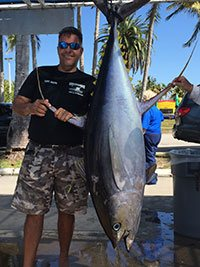 Yellowfin tuna caught in Miami Beach